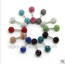 Shamballa double gem studex ear piercing studs