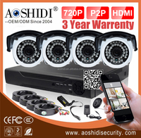 4 camera cctv kit 8ch secuirty dvr home surveillance systems