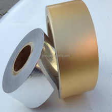 Colored Gold/Silver/silver Aluminum Foil Paper Rolls For Cigarette inner Packaging