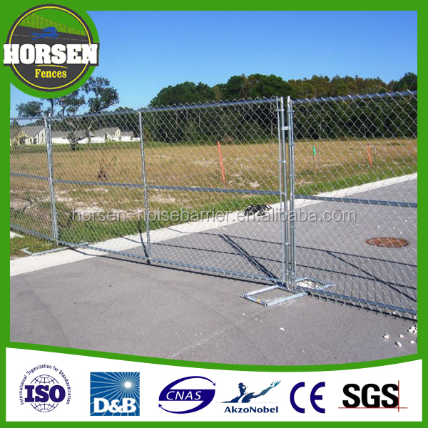 6' high x 10' long chain link portable panels be used temporary fences