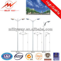 stainless galvanized steel conical street light pole for sale