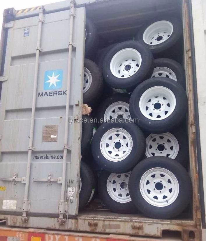 trailer tire 185R14 and rim 14x6 for boat trailer