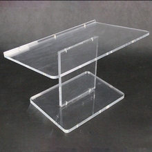 Clear Acrylic Optional custom logo Tabletop Lectern