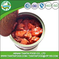 Easy open lid spiced pork cubes instant food