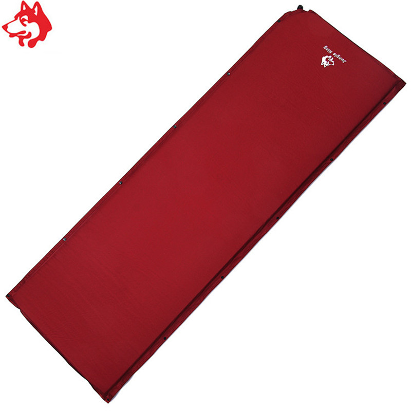 one person Automatic Self Inflating Mattresses acampados burgundy color Sleeping Pads For Outdoor Camping