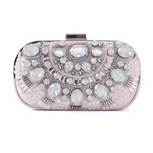 Indian Best Sale Cheap diamond box cluth evening bags made of beads