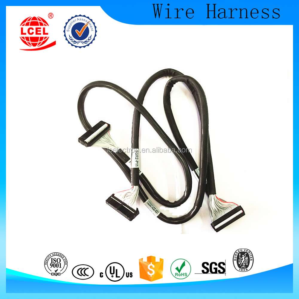 Customized 3M round Jacketed 28 AWG Flat Cable wire harness cable manufacture