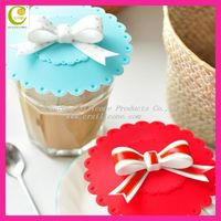 2013 popular cool cartoon personalized eco-friendly silicone cup lid,silicone rubber cup cover for advertising gifts