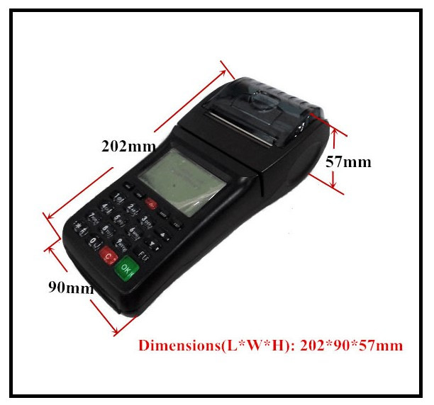 3G POS Terminal Compatible with Wifi