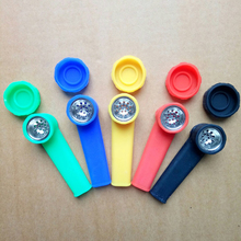 Hot Sell Silicone Tobacco Smoking Pipe Mini Water Acrylic Hookah Rubber Silicone Tobacco Smoking Pipe Shisha Hand Pipes