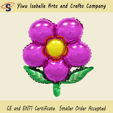 Sweety helium foil pretty cute wine red flower balloon for party decorating