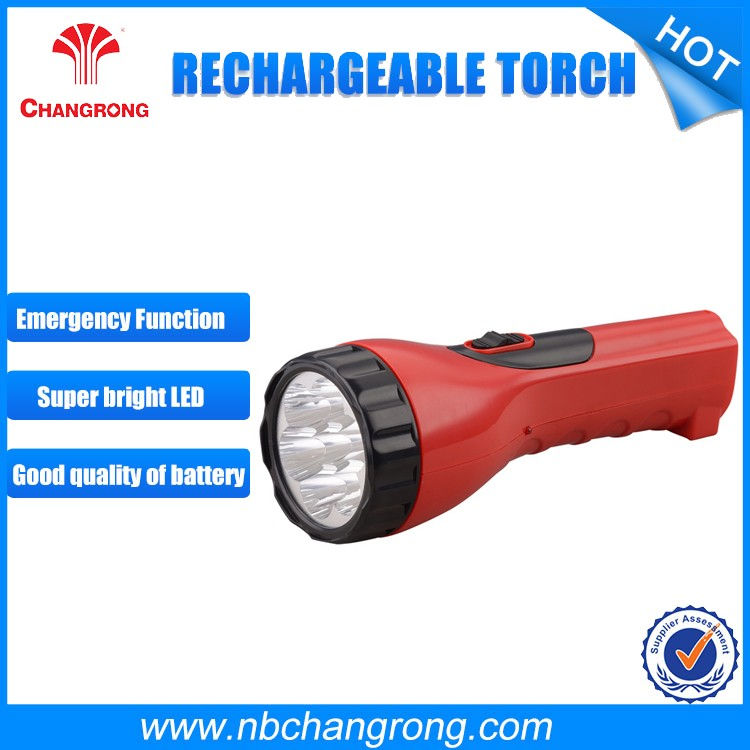 Changrong fast track rechargeable led strong light flashlight