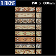 NEW DESIGN factory 150*600mm golden ceramic Border tile border line