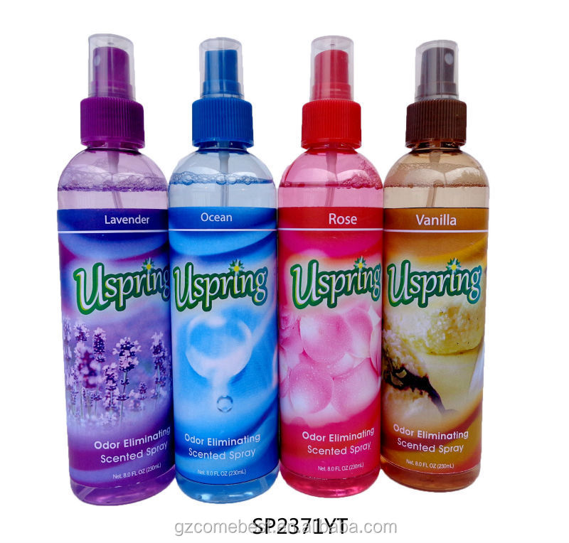 Long lasting smell ozone Air freshener spray with rose smell