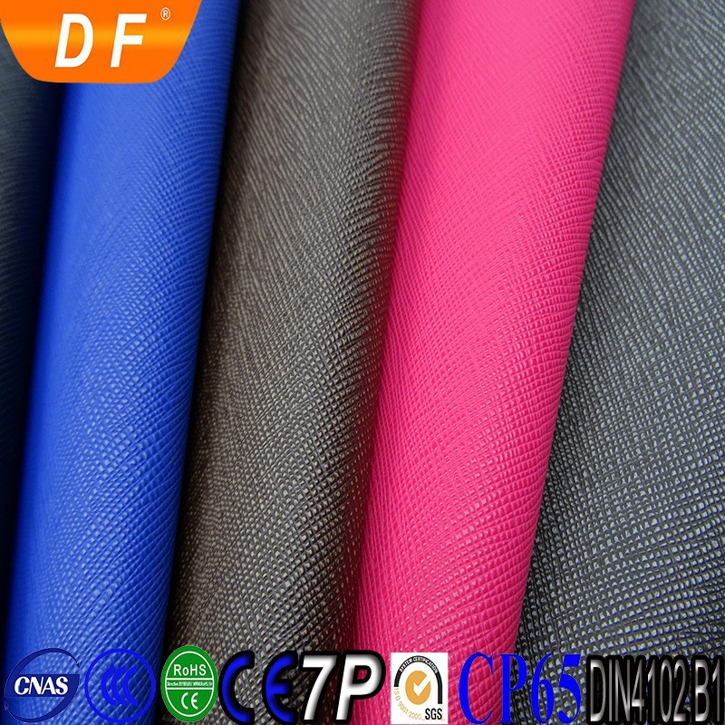 PVC saffiano leather/upholstery leather/synthetic leather