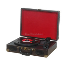 Factory price portable turntable cd record cassette radio player