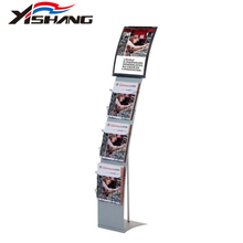 A4 Portable Dual Sided Brochure Exhibition Leaflet Magazine Display Stand