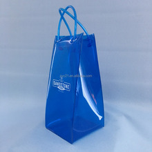 OEM waterproof Plastic PVC wine ice bag with handle (ISO certificate)