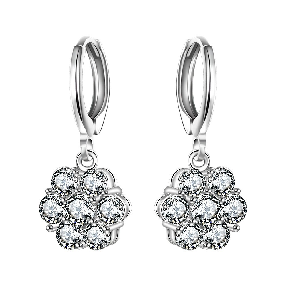 Latest hot sale silver plated alloy Fashion earring Jewelry made in <strong>china</strong>