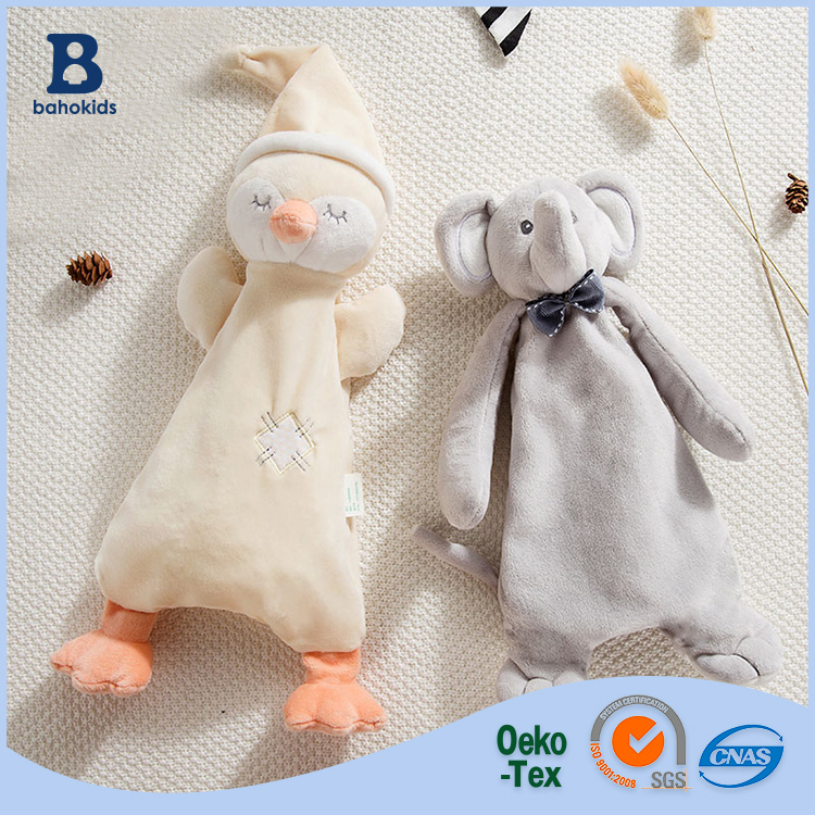 Baho kids factory Baby Infant Cute Plush Doll Comfort Towel kids hand towels calm blanket Teether Soft Appease