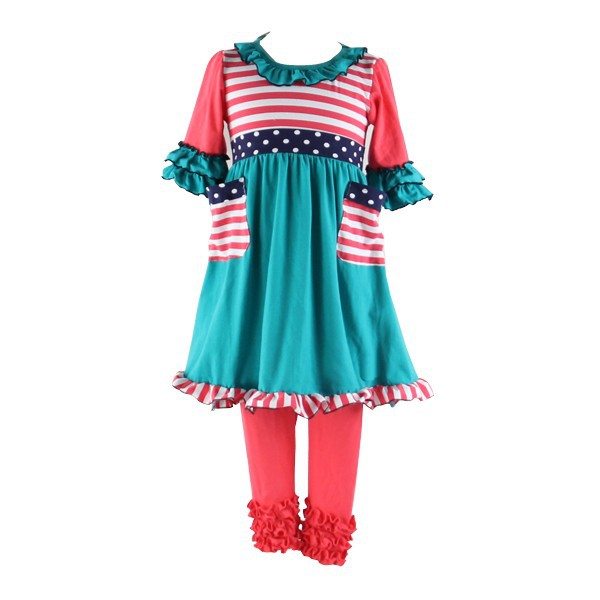 2017 Factory Outlet Bulk Wholesale Kids Clothing 100% Cotton Beautiful Fashion Children Clothing Website with SGS Certificate