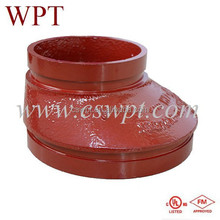 FM/UL approved fire protection grooved eccentric reducer