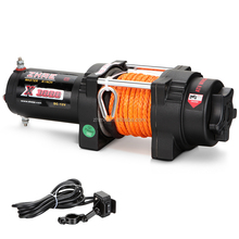ATV 3000lbs 12v mini synthetic electric winch