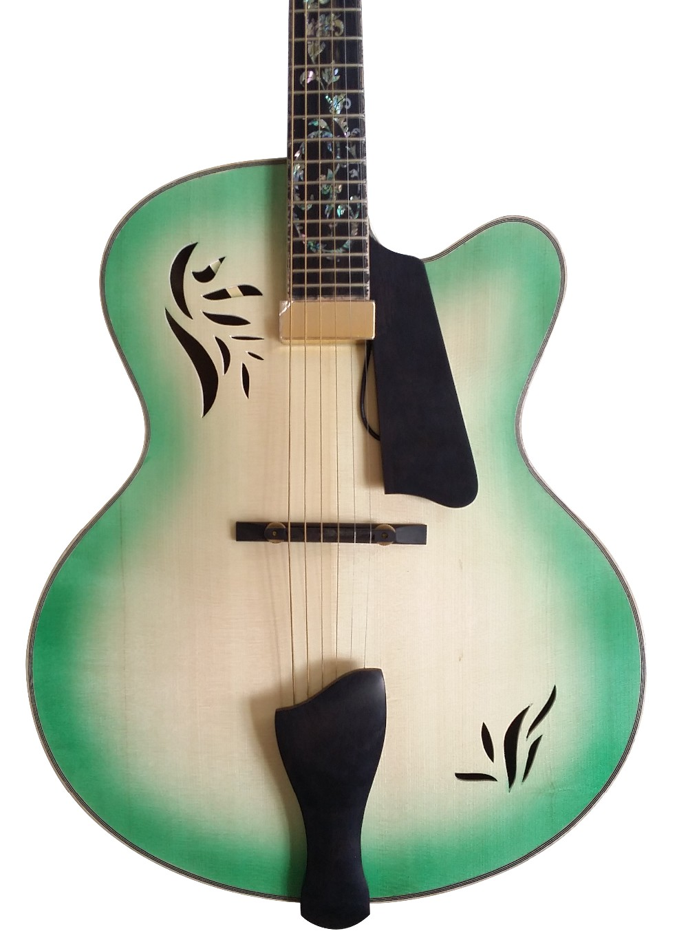 yunzhi fully handmade solid wood archtop guitar