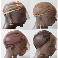 2015 factory kinds of silk swiss lace front wig cap with hooks