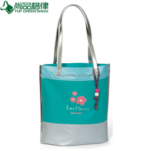 Waterproof leather polyester sling handbag fashion shoulder tote shopping bag