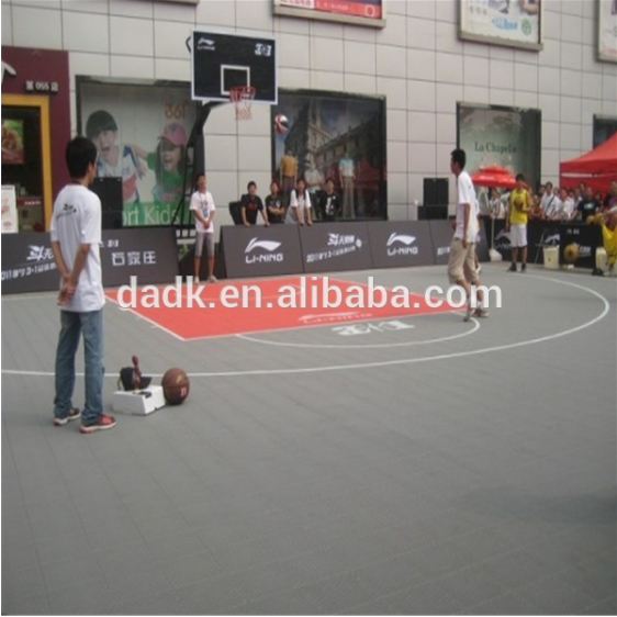 Interlocking basketball court plastic tile,modular sport floor