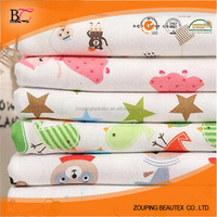 wholesale baby printed cotton interlock knit fabric for baby clothes
