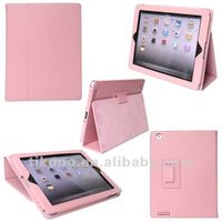 Book stylish slim leather case for ipad 4