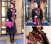 Fashion Women Girl Shawl Gauze Long Wrap Leopard Soft Scarf