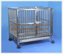 Pet product stainless steel dog cages for home