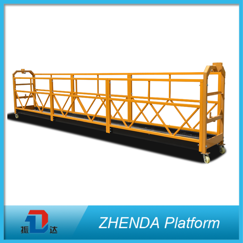 Widely Use Hoist Lifting ZLP500 Steel Suspended Platform For Decoration Window Fabrication