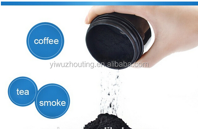 FREE DESIGN Label Mint Flavor Charcoal Teeth Whitening Activated Charcoal Powder