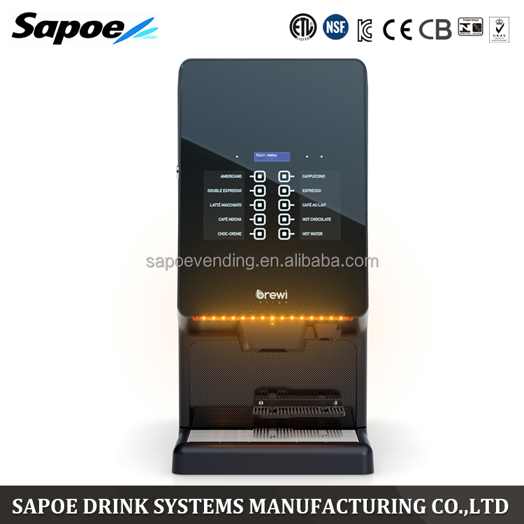Sapoe sophisticated control feature automatic dynamic touch screen expresso bean to cup instant coffee machine