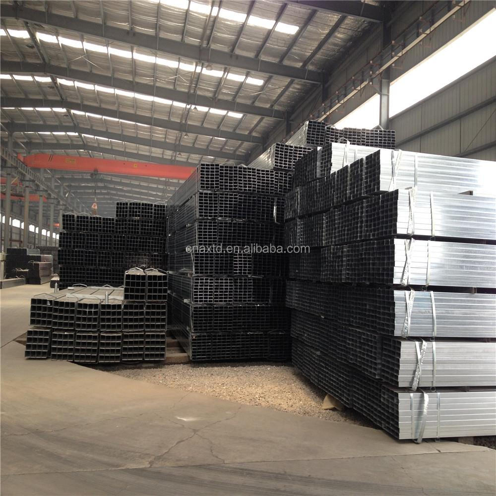 q235 heavy duty hot dipped galvanised square tube steel square pipe tube