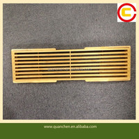 High quality extending total bamboo bathtub caddy