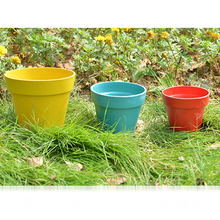 Different Colors Bamboo Fiber Garden Round Plant Pot,Colorful Bamboo Flower Pot,Natural degradation Bamboo Fiber Planters