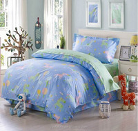 100%cotton reactive print hotel and home use bedding set in luxury design