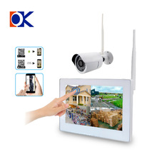Plug And Play 720P HD Outdoor IR Night Vision Home Surveillance Security IP Camera WIFI CCTV System 4CH Wireless NVR Kit