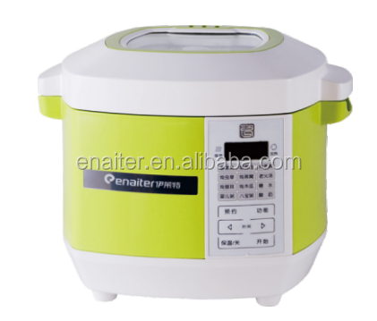 Square shape mutifunction slow cooker with ceramic pot and colorful housing