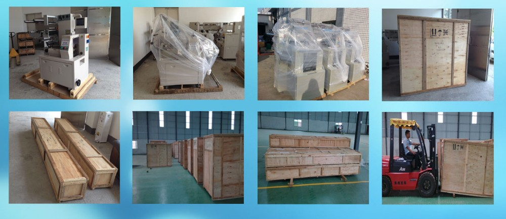 Fully automatic horizontal pillow type tray loading and packing machine