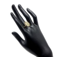 New Design Zinc Alloy Gold Plated Sun Ring