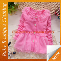 Autumn children dress for wholesale 100 % cotton fashion fall baby girls cotton dresses SPSY-1001