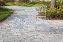 Resin white wedding sillas chiavari tiffany chair