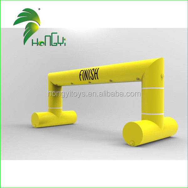 Sea Floating PVC Tarpaulin Arch , 3D Inflatable Finish Line Arch from Guangzhou Hongyi Manufacture