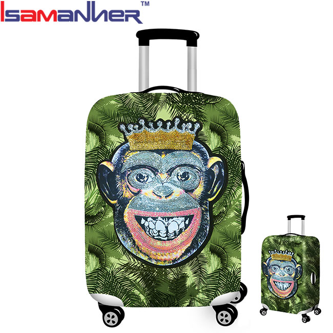 Luggage cover set <strong>monkey</strong> printing travel luggage suitcase protective cover